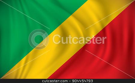 Flag of Republic of Congo stock vector clipart, Flag of Republic of Congo - vector illustration by ojal_2