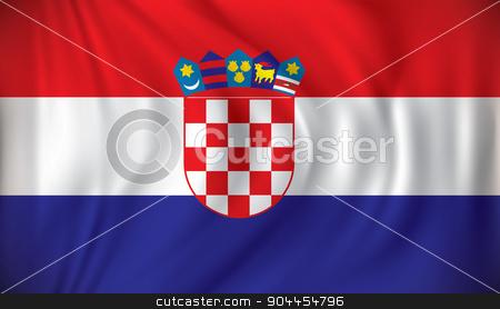 Flag of Croatia stock vector clipart, Flag of Croatia - vector illustration by ojal_2