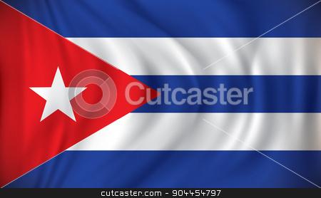 Flag of Cuba stock vector clipart, Flag of Cuba - vector illustration by ojal_2