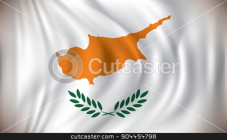 Flag of Cyprus stock vector clipart, Flag of Cyprus - vector illustration by ojal_2