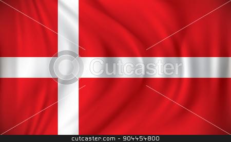 Flag of Denmark stock vector clipart, Flag of Denmark - vector illustration by ojal_2