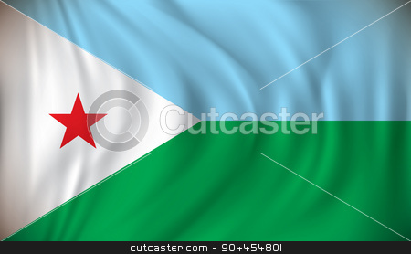 Flag of Djibouti stock vector clipart, Flag of Djibouti - vector illustration by ojal_2