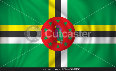 Flag of Dominica stock vector clipart, Flag of Dominica - vector illustration by ojal_2