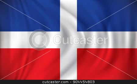 Flag of Dominican Republic stock vector clipart, Flag of Dominican Republic - vector illustration by ojal_2