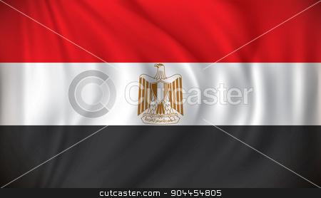 Flag of Egypt stock vector clipart, Flag of Egypt - vector illustration by ojal_2