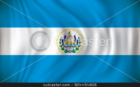 Flag of El Salvador stock vector clipart, Flag of El Salvador - vector illustration by ojal_2