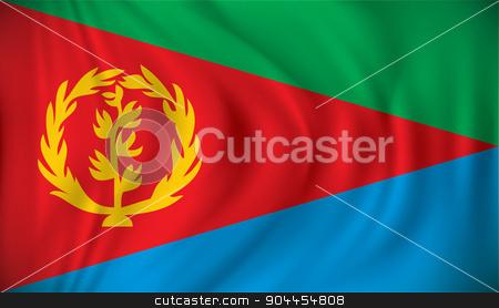 Flag of Eritrea stock vector clipart, Flag of Eritrea - vector illustration by ojal_2