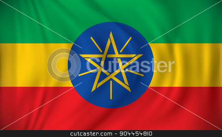 Flag of Ethiopia stock vector clipart, Flag of Ethiopia - vector illustration by ojal_2