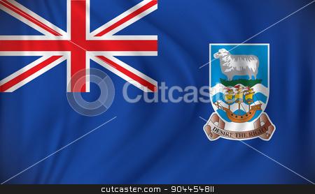 Flag of Falkland Islands stock vector clipart, Flag of Falkland Islands - vector illustration by ojal_2