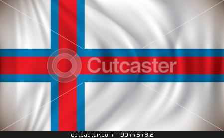 Flag of Faroe Islands stock vector clipart, Flag of Faroe Islands - vector illustration by ojal_2