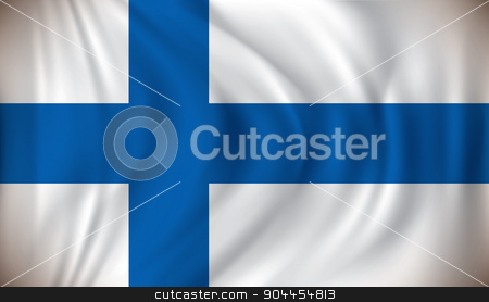 Flag of Finland stock vector clipart, Flag of Finland - vector illustration by ojal_2