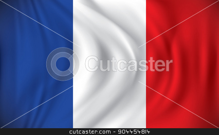 Flag of France stock vector clipart, Flag of France - vector illustration by ojal_2