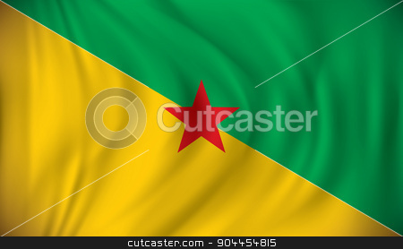 Flag of French Guiana stock vector clipart, Flag of French Guiana - vector illustration by ojal_2