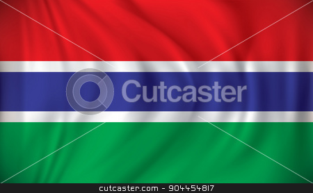 Flag of Gambia stock vector clipart, Flag of Gambia - vector illustration by ojal_2