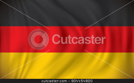Flag of Germany stock vector clipart, Flag of Germany - vector illustration by ojal_2