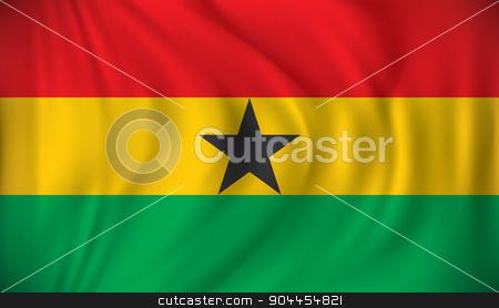 Flag of Ghana stock vector clipart, Flag of Ghana - vector illustration by ojal_2