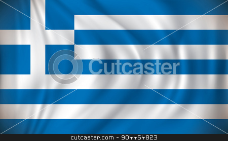 Flag of Greece stock vector clipart, Flag of Greece - vector illustration by ojal_2