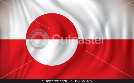 Flag of Greenland stock vector clipart, Flag of Greenland - vector illustration by ojal_2