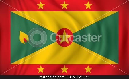 Flag of Grenada stock vector clipart, Flag of Grenada - vector illustration by ojal_2