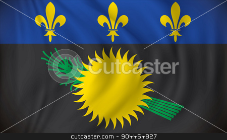 Flag of Guadeloupe stock vector clipart, Flag of Guadeloupe - vector illustration by ojal_2