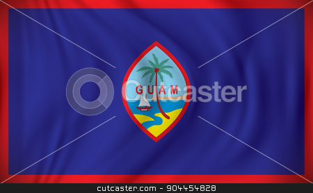 Flag of Guam stock vector clipart, Flag of Guam - vector illustration by ojal_2
