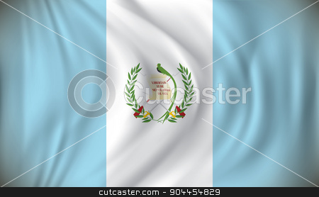 Flag of Guatemala stock vector clipart, Flag of Guatemala - vector illustration by ojal_2