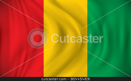 Flag of Guinea stock vector clipart, Flag of Guinea - vector illustration by ojal_2