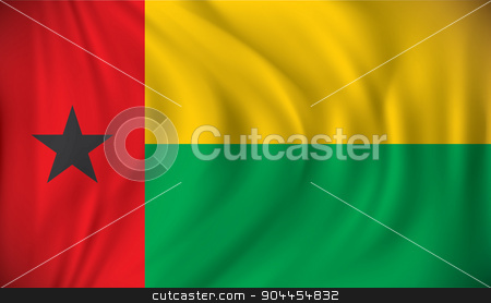 Flag of Guinea-Bissau stock vector clipart, Flag of Guinea-Bissau - vector illustration by ojal_2