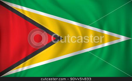 Flag of Guyana stock vector clipart, Flag of Guyana - vector illustration by ojal_2