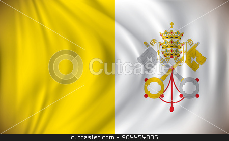 Flag of Vatican stock vector clipart, Flag of Vatican - vector illustration by ojal_2