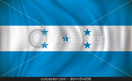 Flag of Honduras stock vector clipart, Flag of Honduras - vector illustration by ojal_2