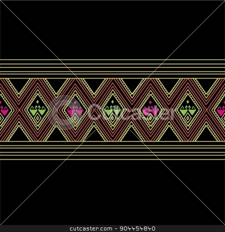 Thailand pattern Background stock vector clipart, Thailand is hand woven fabrics are produced in Thailand. Characterized by each district. History Thailand appeared in a lot of historical evidence. Due to the focus on the other side, but we will investigate the history of Thailand in the past, some boards from the literature. Mural And artistic heritage retained in some localities. by Suradech Horasit