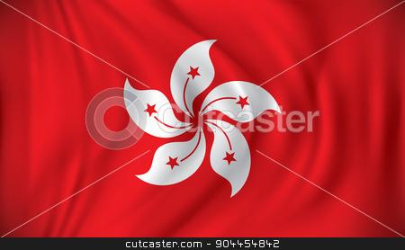 Flag of Hong Kong stock vector clipart, Flag of Hong Kong - vector illustration by ojal_2