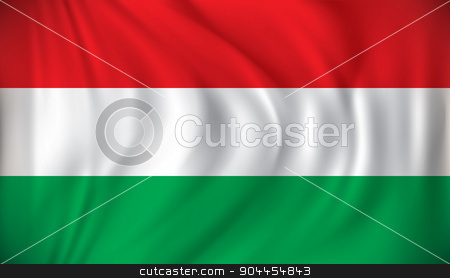 Flag of Hungary stock vector clipart, Flag of Hungary - vector illustration by ojal_2
