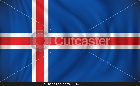 Flag of Iceland stock vector clipart, Flag of Iceland - vector illustration by ojal_2