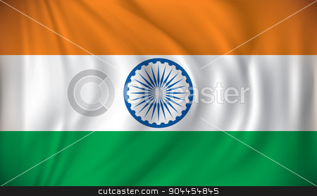 Flag of India stock vector clipart, Flag of India - vector illustration by ojal_2