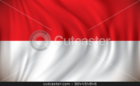 Flag of Indonesia stock vector clipart, Flag of Indonesia - vector illustration by ojal_2