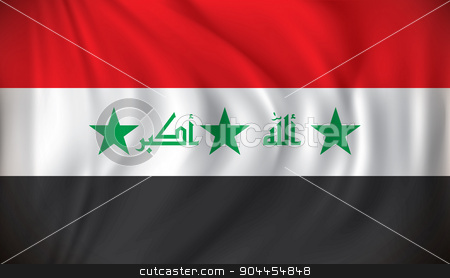 Flag of Iraq stock vector clipart, Flag of Iraq - vector illustration by ojal_2