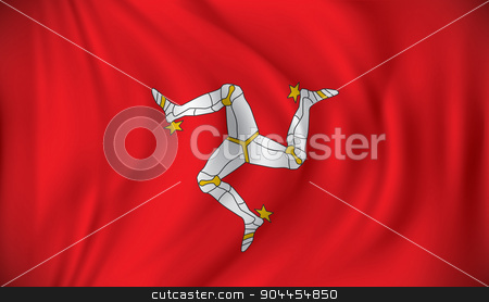 Flag of Isle of Man stock vector clipart, Flag of Isle of Man - vector illustration by ojal_2