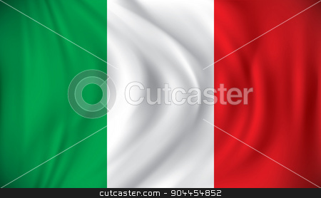 Flag of Italy stock vector clipart, Flag of Italy - vector illustration by ojal_2