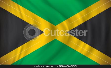 Flag of Jamaica stock vector clipart, Flag of Jamaica - vector illustration by ojal_2