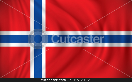 Flag of Jan Mayen stock vector clipart, Flag of Jan Mayen - vector illustration by ojal_2