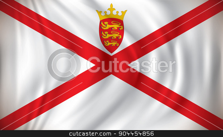 Flag of Jersey stock vector clipart, Flag of Jersey - vector illustration by ojal_2