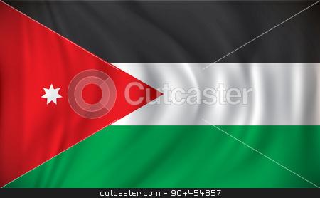 Flag of Jordan stock vector clipart, Flag of Jordan - vector illustration by ojal_2