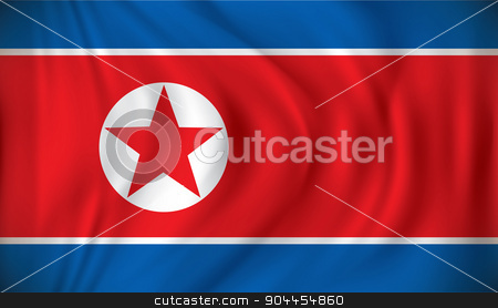 Flag of North Korea stock vector clipart, Flag of North Korea - vector illustration by ojal_2