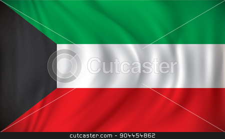 Flag of Kuwait stock vector clipart, Flag of Kuwait - vector illustration by ojal_2
