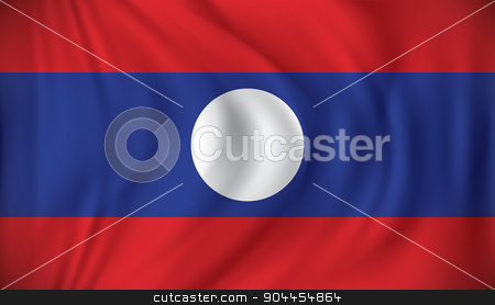 Flag of Laos stock vector clipart, Flag of Laos - vector illustration by ojal_2