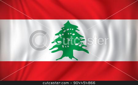 Flag of Lebanon stock vector clipart, Flag of Lebanon - vector illustration by ojal_2