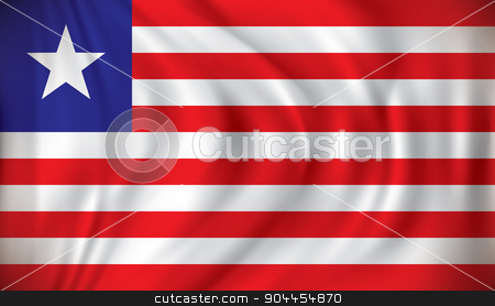 Flag of Liberia stock vector clipart, Flag of Liberia - vector illustration by ojal_2