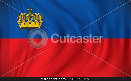 Flag of Liechtenstein stock vector clipart, Flag of Liechtenstein - vector illustration by ojal_2